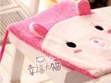 创意可爱卡通动物熊猫兔子舒棉绒毛绒沙发垫汽车坐垫餐椅坐垫