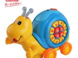 儿童益智1-3岁宝宝电动蜗牛电话机多功能声光益智儿童早教玩具
