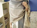 办公室空调披肩围巾 夏季防晒丝巾 颜色绚丽精美提花厂家批发