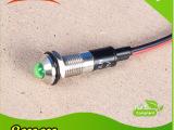 信号灯 指示灯 金属 led防水8mm绿色指示灯