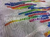 亮片绣花加工 绣花布厂家 专营婚纱布料 珠片面料 布料 欧根纱