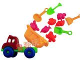 沙滩戏水玩具 儿童沙滩车10件套 儿童益智玩具 地摊玩具批发