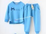 2014秋新外贸童装 韩版纯棉童套装 儿童卫衣长裤两件套装 运动
