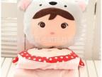 可爱卡通动物糖果吉宝女孩娃娃加厚棉混纺空调被车载靠垫被子抱枕