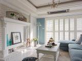 亨元装饰 90平地中海风蔚蓝二居室装修效果图