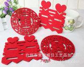无纺布餐垫 杯垫隔热餐垫 激光镂空雕刻设计加工