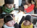2014韩版新款 男女童兔毛球糖果色百搭围巾围脖