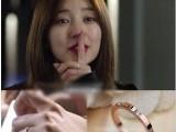 韩剧 想你尹恩同款 细版简约3颗钻玫瑰金戒指 钛钢 韩版时尚