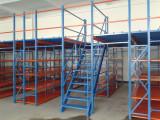 宁波阁楼货架生产厂家 配楼梯阁楼平台货架 送货安装