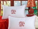 批发婚庆类全棉立体羽丝绒枕芯 绗绣枕头 高档可水洗枕头芯
