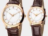 现货批发韩版商务超薄情侣对表 石英表 玫瑰金手表