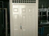 太原长治定制加工镀锌钢板门大门院门屋门子母门对开门防盗门