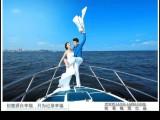 海上观光游乘坐豪华游艇多点巡回
