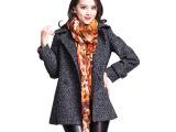 2015春季新款女式外套 韩版修身羊毛大衣毛呢大衣女式毛呢外套