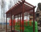 天津防腐木 四角凉亭 花盆 木屋 地板 碳化木