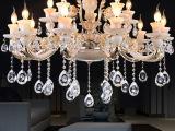 厂家供应吸顶灯 创意欧式现代水晶灯 客厅水晶吊灯 蜡烛吊灯批发