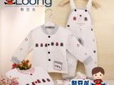 厂家童装批发 秋冬新款憨豆龙 宝宝保暖竹纤维背带儿童套装 923