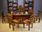 宁波市老船木办公桌家具茶桌椅子客厅沙发茶几茶台实木会议大板桌