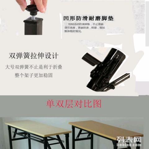 重庆博仁办公家具厂家现货长条桌折叠桌办公会议桌展览展销桌...