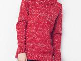 2014秋冬新款韩版女装针织毛衣 网上代理 免费代发 服装代理加