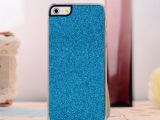 苹果保护壳 iphone5闪粉手机壳 格力特 贴皮保护壳