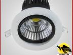 工厂直销led室内照明cob天花筒灯5-40瓦 开孔120mm高端酒店灯