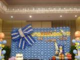 北京寶寶百日宴氣球裝飾,主題活動氣球布置