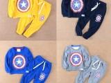 厂家直销新款儿童套装 韩版童装圆领套头卫衣二件套装