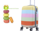 【BYGIANT】品牌女拉杆箱万向轮行李箱冰淇淋色旅行箱彩虹条纹