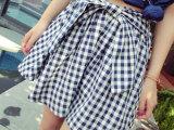 9816 韩版格子绑带小清新高腰半身短裙代发 女装夏季新款招代理