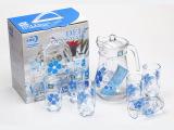 厂家生产 2014年最新耐高温实用杯具套装 时尚高档玻璃水杯 热