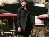 2014冬季新款女式修身呢子大衣加厚时尚外套厂家直销女装一件代发