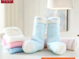 minimoto小米米袜子 宝宝袜子 婴儿袜 秋冬加厚毛巾长筒袜3双