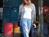 新款女装韩版长袖针织衫渐变色加长针织开衫网络爆款时尚毛衣批发