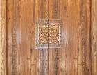 定做原木进户门庭院双开门榆木大门仿古中式素门