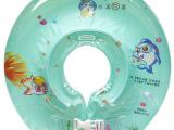 夏日宝贝婴儿脖圈 宝宝游泳圈 彩球颈圈 儿童戏水项圈 带玲铛
