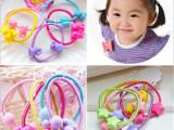 A2韩国热卖。糖果色七彩儿童皮筋。儿童皮绳