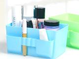 寝室神器3孔多格化妆品收纳盒塑料韩国桌面整理盒大容量收纳箱