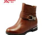 3515强人时尚新款羊毛军靴 寒冬保暖棉鞋 真皮头层皮女式军靴子