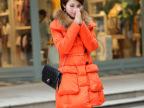 韩版4韩版羽绒服 女款冬装韩版修身加厚 中长款大口袋时尚羽绒服