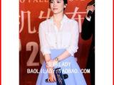 2014韩国女宋慧乔明星同款蓝色半身裙百褶裙伞裙短裙子