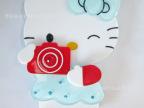 J315 厂家直销 韩国亚克力卡通镜 手机壳DIY配件 相机猫