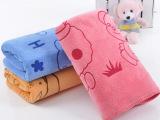 超细纤维毛巾加厚纳米100g印花吸水卡通小熊儿童巾高阳厂家直销