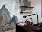 太原彩绘墙画 阳曲墙绘 文化墙 手绘电视墙画