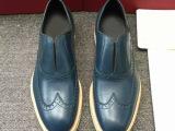 男鞋奢侈品原版高端男士真皮男套脚懒人鞋英伦驾车鞋
