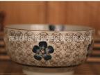 """现货批发和田烧日韩式青花瓷外贸手绘和风陶瓷器餐具7""""面碗大汤碗"""