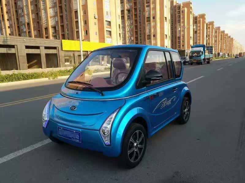 铁壳电动四轮车纯电动轿车四轮电动皮卡车油电两用电瓶代步车