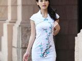 2014夏季新款旗袍裙夏装改良旗袍中式优雅时尚性感旗袍