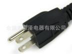 专业生产直头美式UL编织线插头 高品质美规带品字尾插头电源线