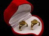 情侣爱情戒指 弹壳 戒指纯手工弹壳纯铜戒指 工艺礼品